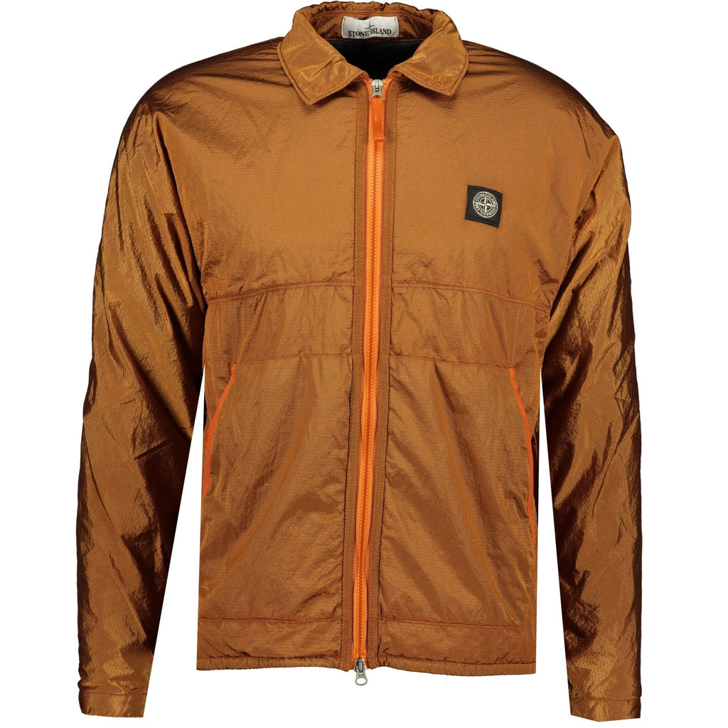 Stone Island Nylon Metal Zip Jacket Orange - chancefashionco