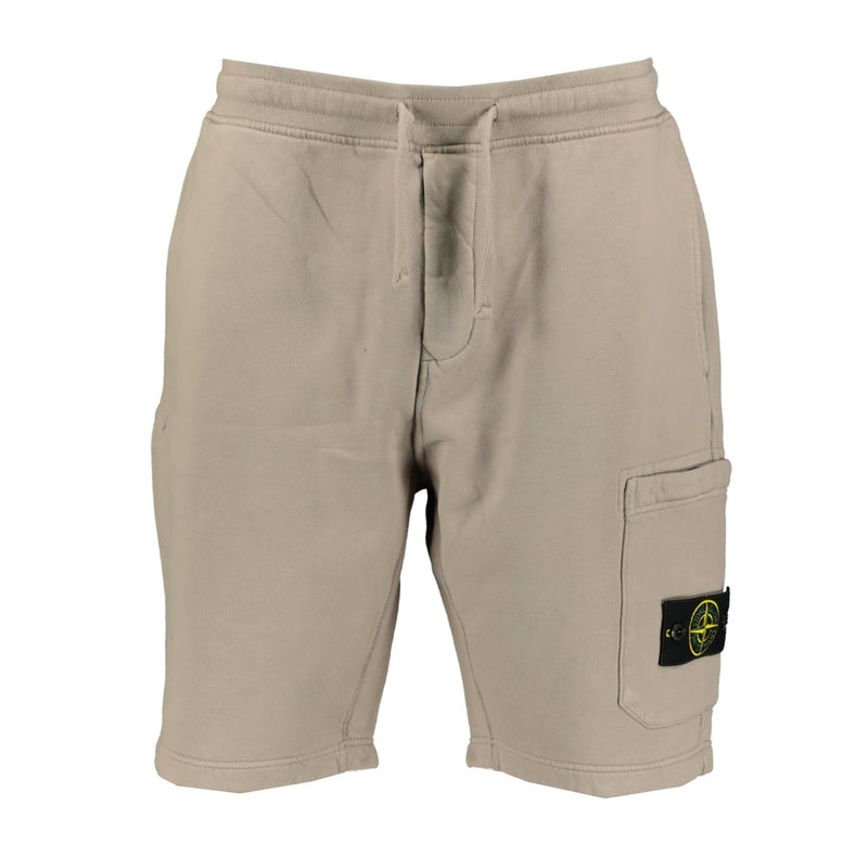 Stone Island Sweat Shorts Beige - chancefashionco