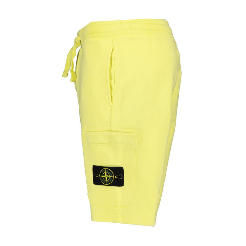 Stone Island Sweat Shorts Yellow - chancefashionco