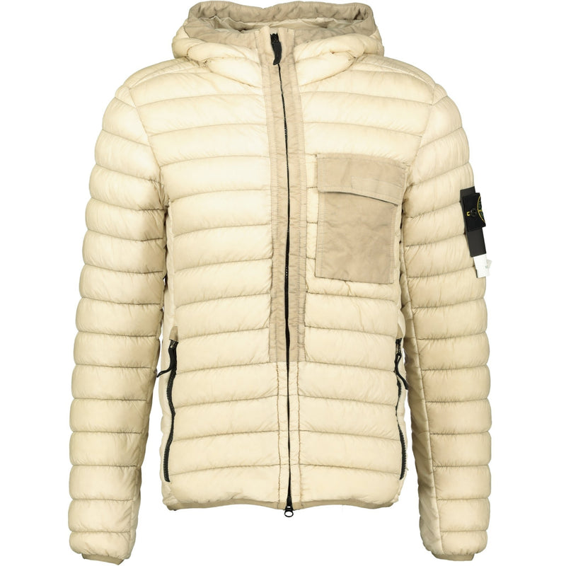 Stone Island Yarn Garment Dyed Down Jacket Beige - chancefashionco