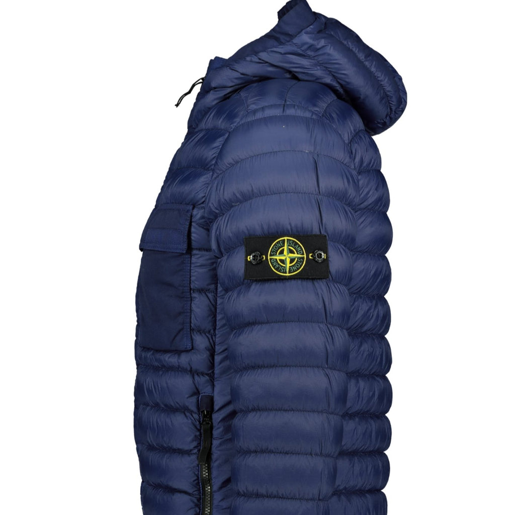 Stone Island Yarn Garment Dyed Down Jacket Blue - chancefashionco