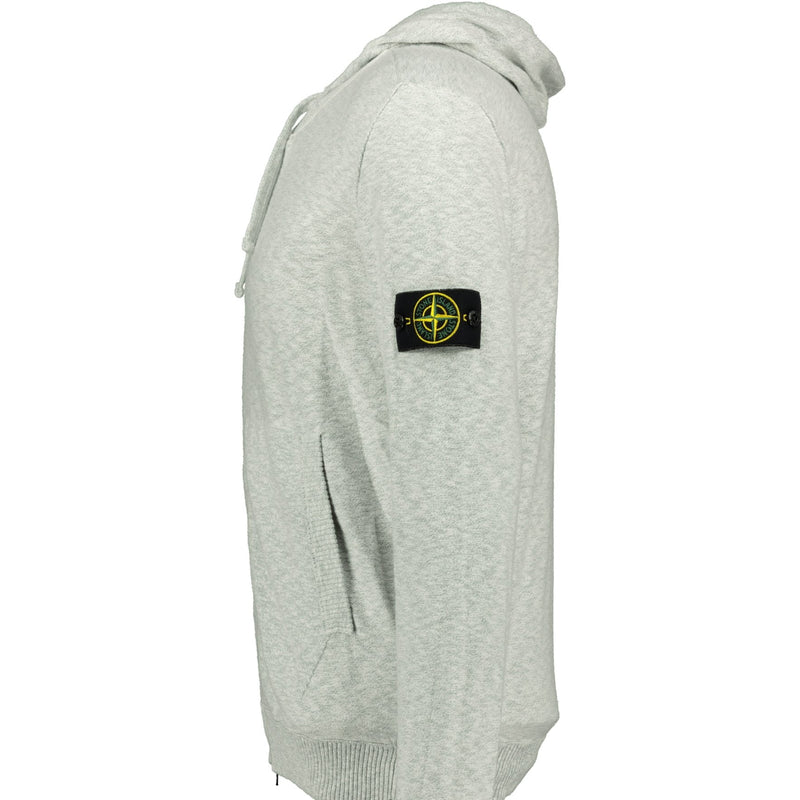 Stone Island Zip-Up Hoodie Grey - chancefashionco