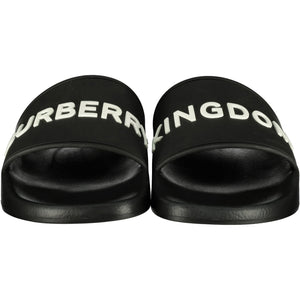 Womens Burberry 'Kingdom' Furley Rubber Sliders - chancefashionco
