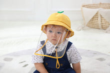 Load image into Gallery viewer, Face Shield Cotton Packable Sun Hats Dust Proof Packable Sun Hats Shield for Dust, Outdoors, Sports, Protection Sun Hat Suitable for Baby (3-18 Months) Yellow