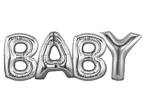 Baby 40 Inch Silver Large Helium Balloons Decorations,Foil Balloon, Baby Shower Balloon,Party Balloon,Party Decoration,Party Supplies