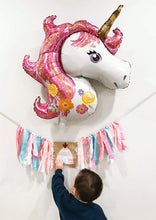 "Load image into Gallery viewer, Unicorn Balloon 2 Pcs Large Helium Balloons Decorations,Foil Balloon,Two 44"" Unicorn Balloon, Party Balloon,Party Decoration,Party Supplies"