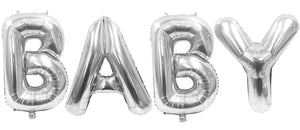 Baby 32 Inch Silver Large Helium Balloons Decorations,Foil Balloon, Baby Shower Balloon,Party Balloon,Party Decoration,Party Supplies