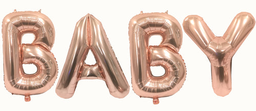 Baby 32 Inch Rose Gold Large Helium Balloons Decorations,Foil Balloon, Baby Shower Balloon,Party Balloon,Party Decoration,Party Supplies