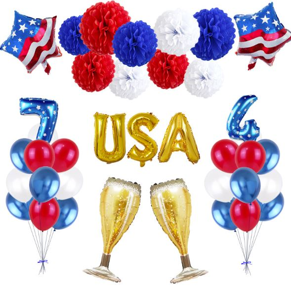 Copy of 4th of July Balloon Independence Day Balloon Set Party Decoration Patriotic Decorations,4th of July Decor, Fourth of July Decor, Independence Day Decorations, USA Party Balloons