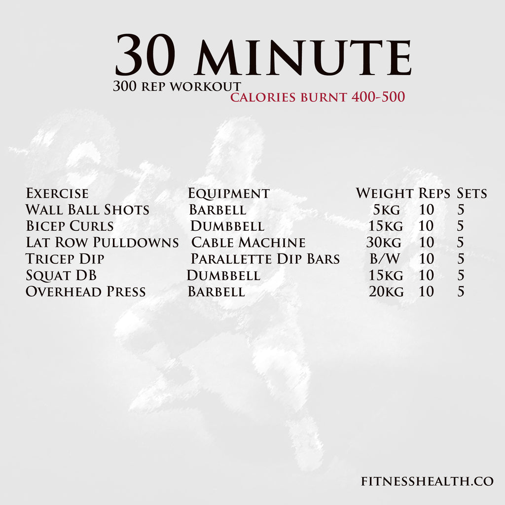 Workout Arms and Legs 30 Min 300 reps