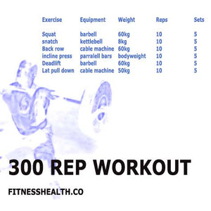Leg and Back 45 minute 300 rep blast