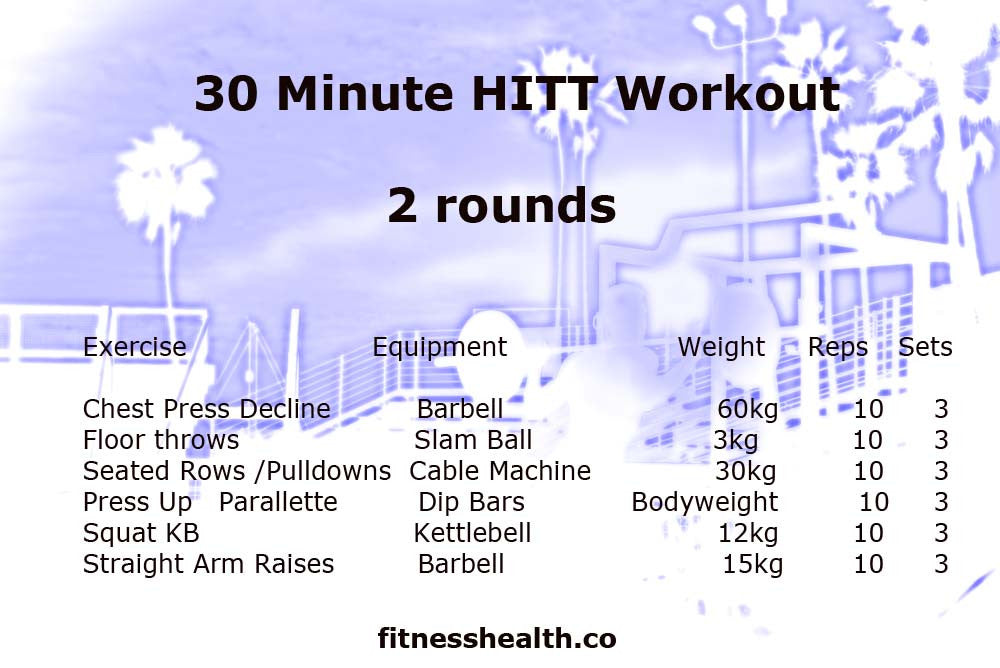 30 Minute HITT Workout 2 Workout