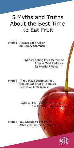 5 Myths and Truths About the Best Time to Eat Fruit