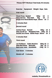 Fitness HITT Workout Total body 45 minutes