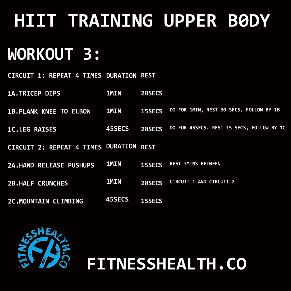 HIIT Training Workout 3 Upper Body