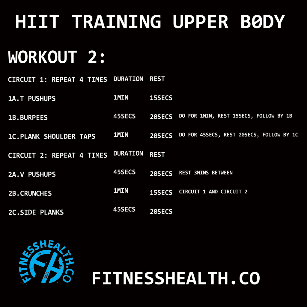 HIIT Training Workout 2 Upper Body