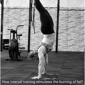 How interval training stimulates the burning of fat?