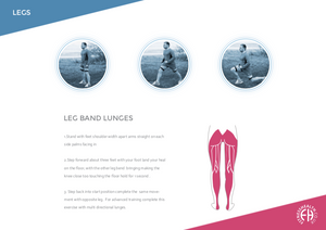 LEG BAND LUNGES