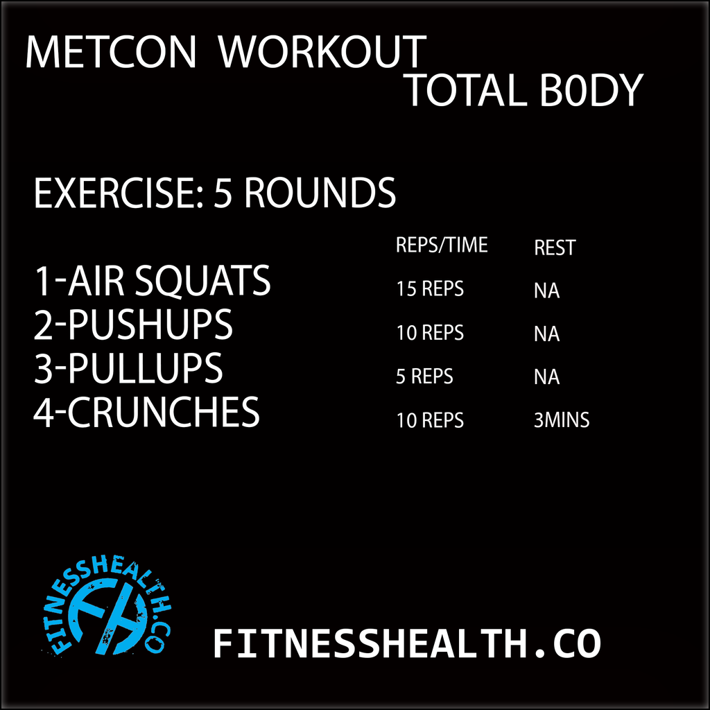 Metcon Workout Total Body 30 Minutes Cardio