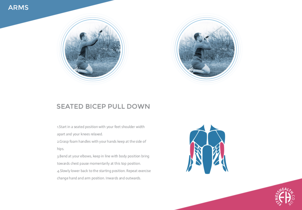 SEATED BICEP PULL DOWN