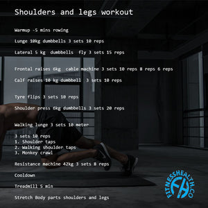 Shoulders and legs workout