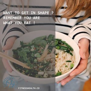 Want to get in shape ? Remember you are what you eat !