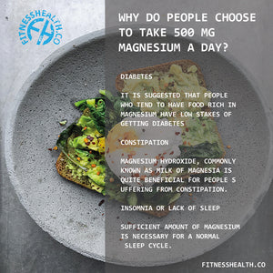 Why do people choose to take 500 mg magnesium a day?
