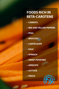 Beta-carotene slows down cognitive decline