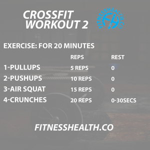 Crossfit workout 2 no equipment