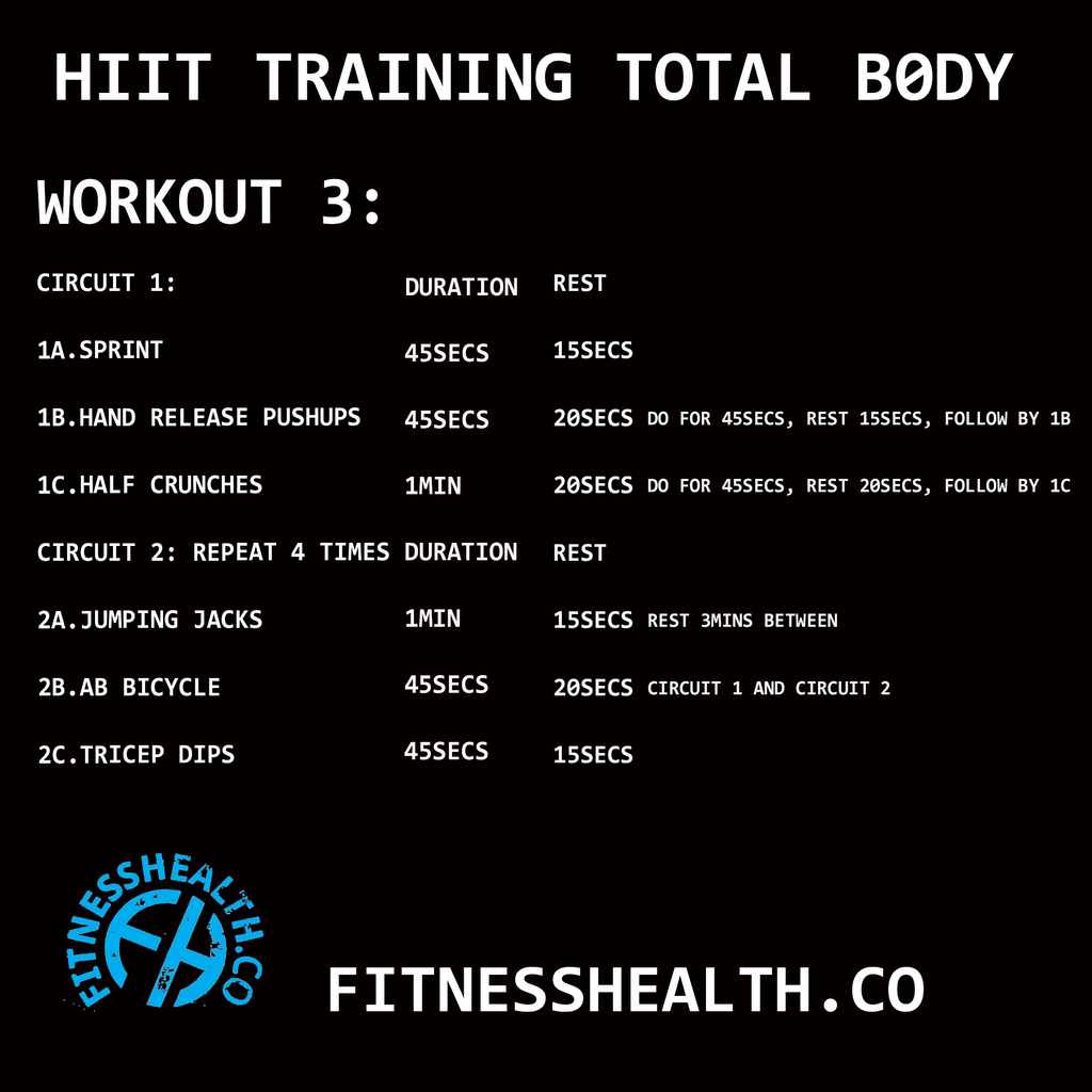 HIIT Training Workout 3 Total Body