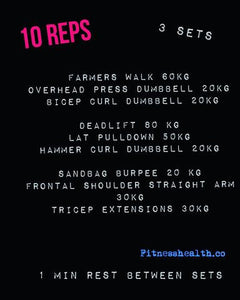 Fitnesshealth.co full body workout strength training