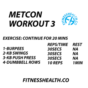 METCON Workout 3 Training Total Body