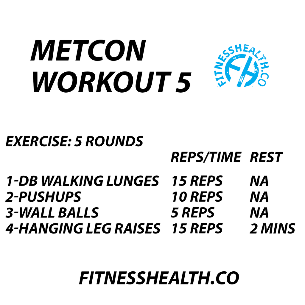 Fitness Workout 5 Metcon Training