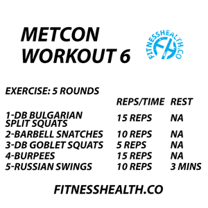 METCON Training Workout 6 Total Body