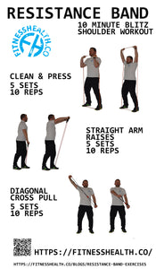 10 minute Resistance band shoulder workout