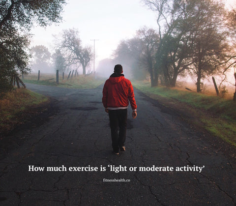 How much exercise is 'light or moderate activity'?