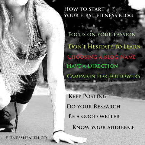 How to start your first fitness blog