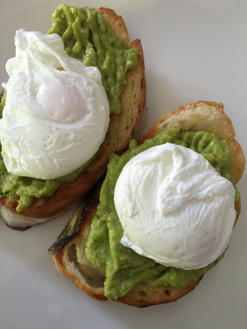 Poached Eggs and Avocado on Multigrain Toast