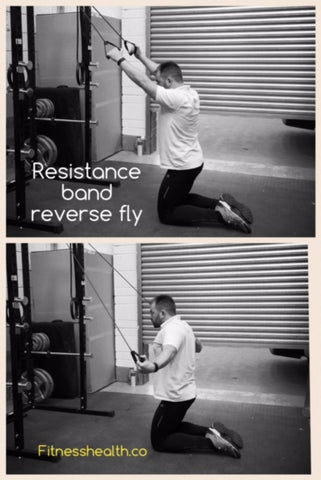 Resistance band exercise reverse fly