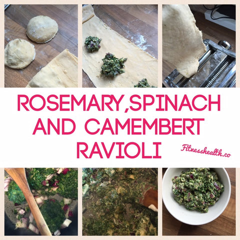 Rosemary, Spinach & Camembert Ravioli