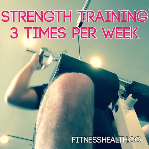 Strength training 3 times per week