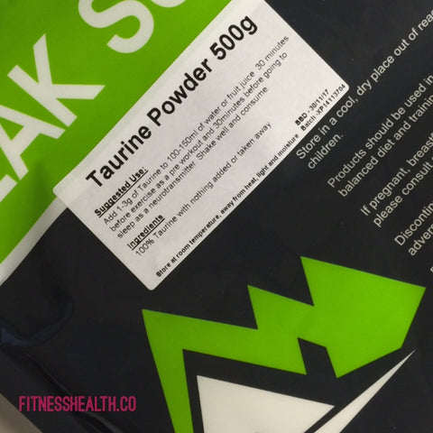 Taurine Powder for Fitness Workouts
