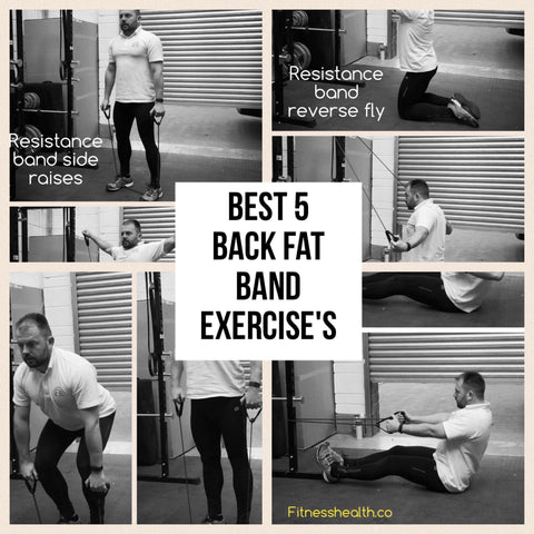 Back fat exercises for resistance band