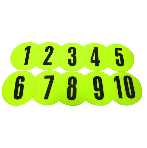 FH Flat Disc Markers Set - Numbered 1 to 10