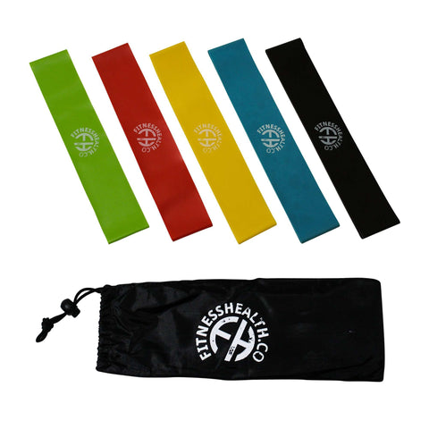 FH Resistance Bands Legs and Glute Exercise Loop 5 Band set