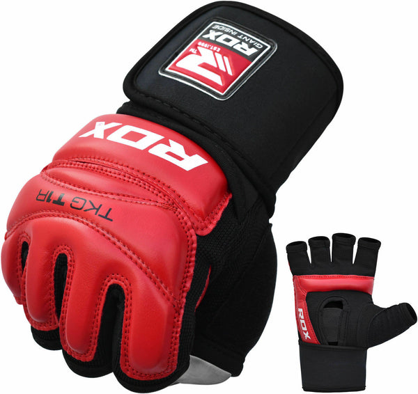 RDX T1 Large Red LeatherX Taekwondo Gloves