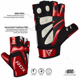 RDX S8 Bold Leather Gym Gloves