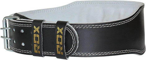 4 INCH LEATHER WEIGHTLIFTING GYM BELT RDX