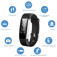 LETSCOM Fitness Tracker, Heart Rate Monitor Smart Watch Wireless Activity Tracker Watch, IP67