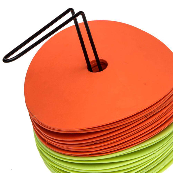 FH Flat Disc Agility Spot Markers Set of 24 (12 Orange 12 Yellow)